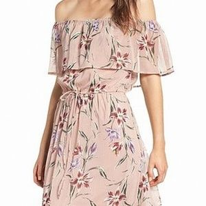 Love Fire Off-Shoulder Chiffon Maxi Dress sz. L